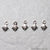 5pc Lot Seashell Shape Oxidized 8x7mm Charm For Bracelets & Pendants - GemMartUSA