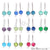 Round Loop Connector Hook Earring Silver Plated 28x8mm (Pick Gemstone)