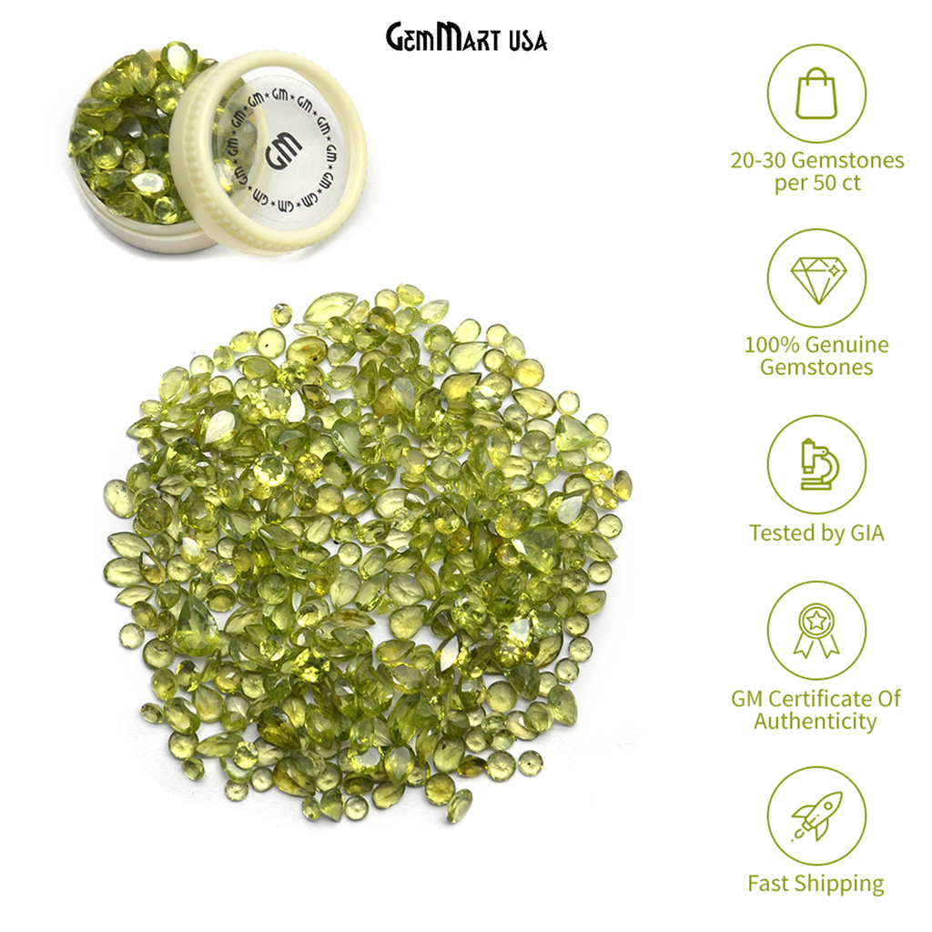 Wholesale Peridot Mix Shape Loose Gemstones (Pick Your Carat)