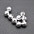 10pc Lot Ball Finding 4mm Silver Plated Round Jewelry Making Charm - GemMartUSA