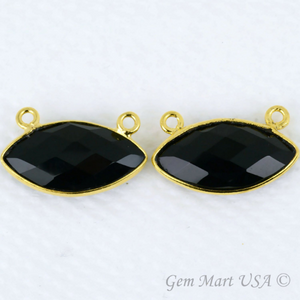 Clearance Sale Marquise 10x20mm Cat Bail Gold Plated Gemstone Connector