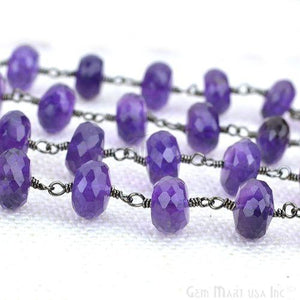 Amethyst Oxidized Wire Wrapped Beads Rosary Chains