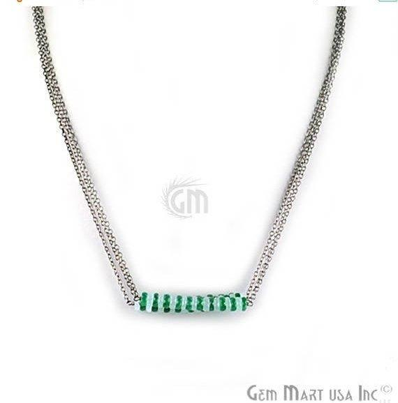 bead bar necklace chain