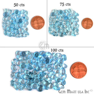 Blue Topaz Mix Shape Wholesale Loose Gemstones (Pick Your Carat) - GemMartUSA