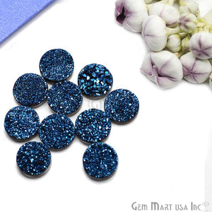 Titanium Druzy Cabochon 12mm Round Druzy (Pick Your Color)