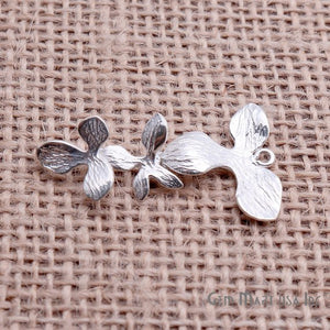 Flower' Sterling Silver Silver Charm for Bracelet Pendants & Necklace
