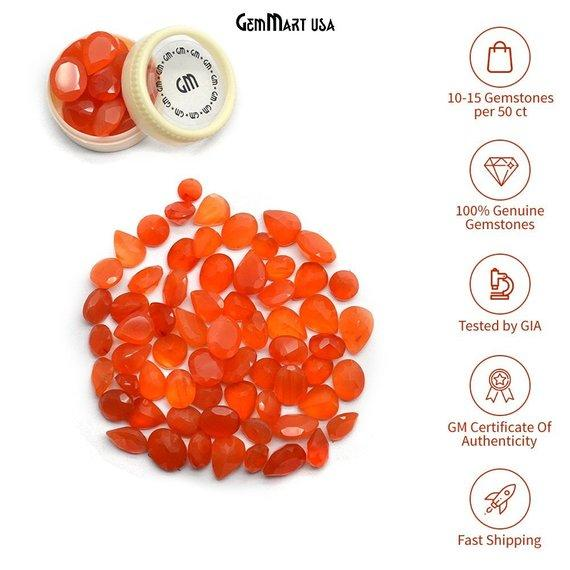 Wholesale Carnelian Mix Shape AAA Grade Loose Gemstones (Pick Your Carat)