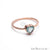 Rose Gold Plated Heart Shape Single Gemstone Solitaire Ring (CP-12009)