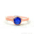 Rose Gold Plated Round Shape Single Gemstone Solitaire Ring (Pick your stone and size) (CP-12007)