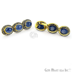 Victorian Estate Earring, 16.38 cts Natural Sapphire With 0.65 cts of Diamond as Accent Stone (DR-12068) - GemMartUSA