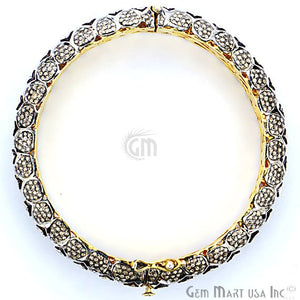 Victorian Estate Bangle, 5.30 cts Sliced Diamond, With 9.62 cts of Diamond as Accent Stone - GemMartUSA