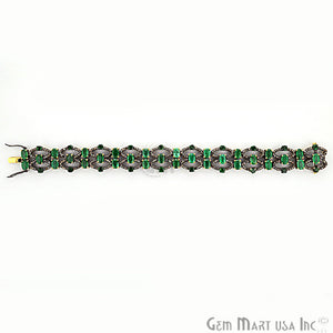 Victorian Estate Bracelet, 15 cts Natural Emerald, With 4.15 cts of Diamond as Accent Stone (DR-12172) - GemMartUSA