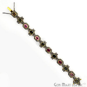 Victorian Estate Bracelet, 13.40 cts Multi Stone, With 3.70 cts of Diamond as Accent Stone (DR-12174) - GemMartUSA