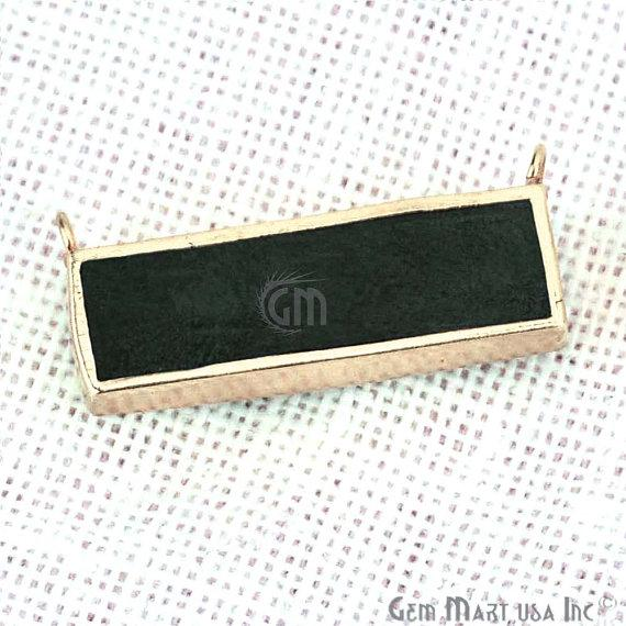 22k Gold Plated 22x9mm Rectangle Shape Double Bail Bar Pendant (50021)
