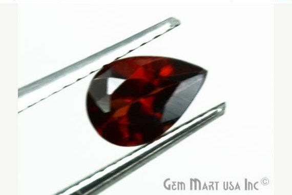5 Pcs Of Natural Red Garnet Pears 6x4mm AA+ Quality, Amazing Luster, Red Garnet (GT-80018)