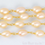 Pink Pearl 6-8mm Oval Shape Gold Wire Wrapped Rosary Chain