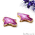 Agate Slice 50x31mm Organic Gold Electroplated Gemstone Earring Connector 1 Pair - GemMartUSA