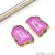 diy-earrings, agate earring, agate jewelry, geode