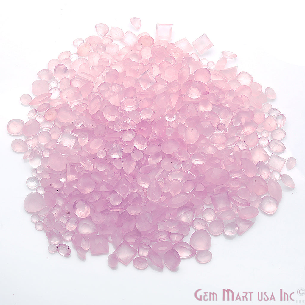 rose quartz loose gemstone