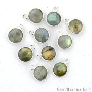 Round 8mm Single Bail Silver Plated Gemstone Connectors