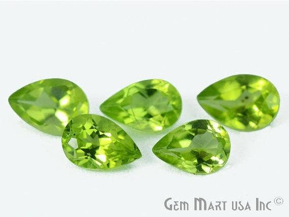 10 pcs Of Peridot Pears 6x4mm AA+ Quality, Amazing Luster, Peridot (PT-80002)