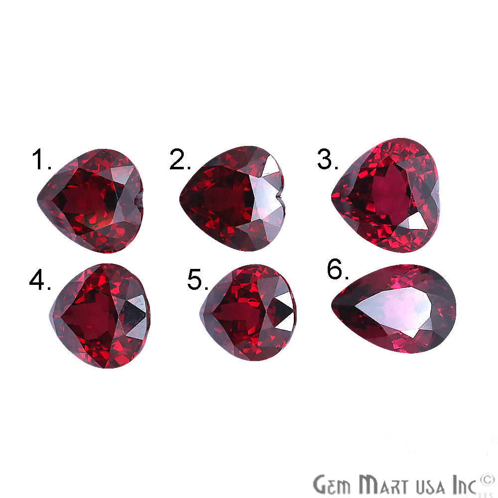 Rhodolite Garnet, Pear & Heart Shape, Loose Gemstone, January Birthstones (RH-0113-0118)