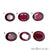 Rhodolite Garnet, Oval Gemstone, Loose Gemstone, January Birthstones (RH-0125-0130) - GemMartUSA