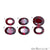 Rhodolite Garnet, Oval Gemstone, Loose Gemstone, January Birthstones (RH-0143-0148) - GemMartUSA