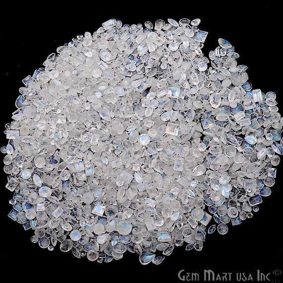 5 Carat Rainbow Moonstone Gemstone, June Birthstone, Mix Gemstones, Loose gemstones