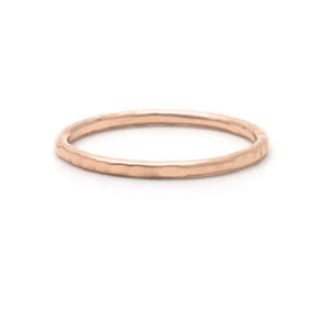 Hammered Simple Stackable Wedding Band Ring (12009-3)