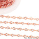 White Zircon Heart Shape 4-4.5mm Rose Gold Plated Continuous Connector Chain - GemMartUSA