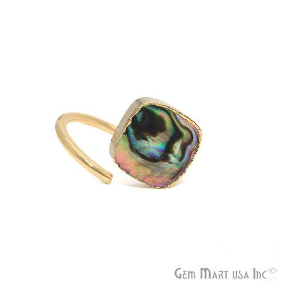 Gold Plated Shell Adjustable Statement Boho Ring (SERG)