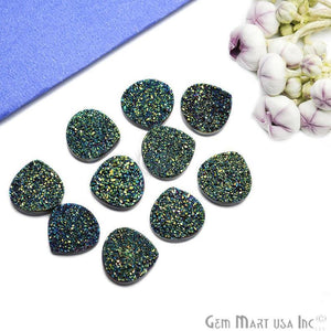 Plain Druzy 16mm Heart Shape Loose Cabochon (Pick Your Color)