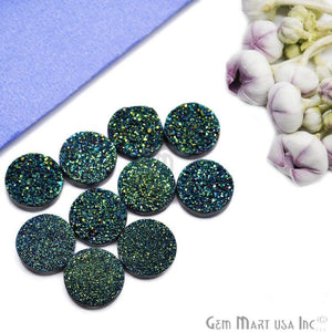Titanium Druzy Cabochon 14mm Round Druzy (Pick Your Color)