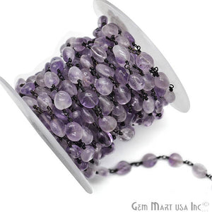 Amethyst Large Beads Oxidized Wire Wrapped Rosary Chains
