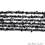 Natural Black Obsidian Gemstone Chip Beads, 34 Inch Full Strand Jewelry Making Supply (CHBO-70001)