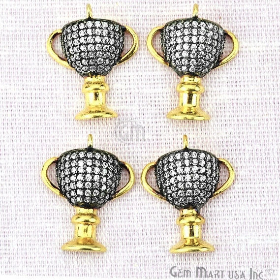Trophy cup charms cz pave charm pave diamonds charm gold charm trophy cup charms diamond cz pave gold plated charm for bracelet pendants necklace chcz mozeypictures Gallery