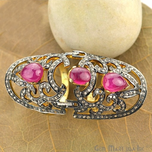 Victorian Estate Ring, 720 cts Natural Ruby With 170 cts of Diamond as Accent Stone (DR-12012)