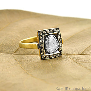 Victorian Estate Ring, 2.20 cts Sliced Diamonds With 0.20 cts of Diamond as Accent Stone (DR-12016)