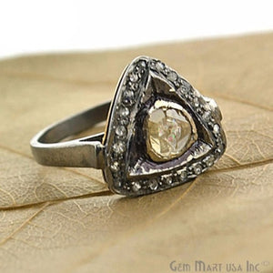 Victorian Estate Ring, 0.80 cts Sliced Diamonds With 2.0 cts of Diamond as Accent Stone (DR-12026) - GemMartUSA