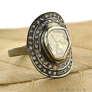 Victorian Estate Ring, 0.50 cts Sliced Diamonds With 0.40 cts of Diamond as Accent Stone (DR-12027) - GemMartUSA