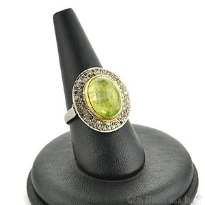 Victorian Estate Ring, 6.10 cts Yellow Sapphire with 0.8 cts of Diamond as Accent Stone (DR-12056) - GemMartUSA