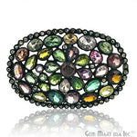 Victorian Estate Ring, 75 cts Multi Color Stone in Center with 6 cts of Diamond as Accent Stone (DR-12062)