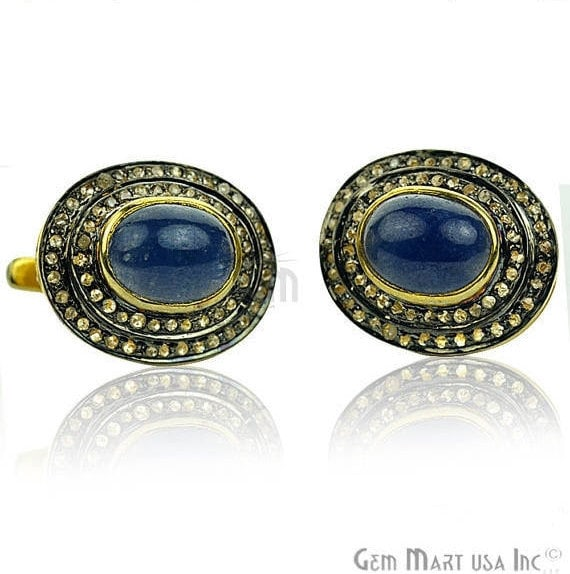 Victorian Estate Earring, 515 cts Natural Sapphire with 070 cts of Diamond as Accent Stone (DR-12071)