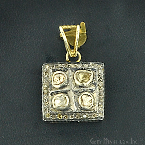 Victorian Estate Pendant, 30 cts Sliced Diamond With 040 cts of Diamond as Accent Stone (DR-12075)
