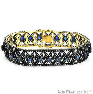 Victorian Estate Bracelet, 11.40 cts Natural Sapphire, With 3.20 cts of Diamond as Accent Stone (DR-12081) - GemMartUSA