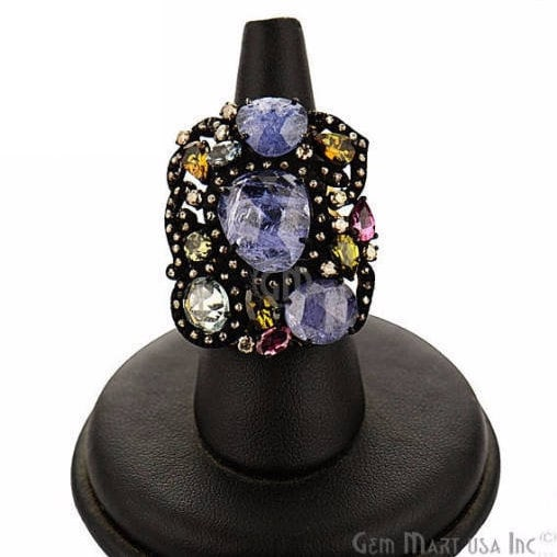 Victorian Estate Ring, 1066 cts Mix Sapphire with 060 cts of Diamond as Accent Stone (DR-12109)