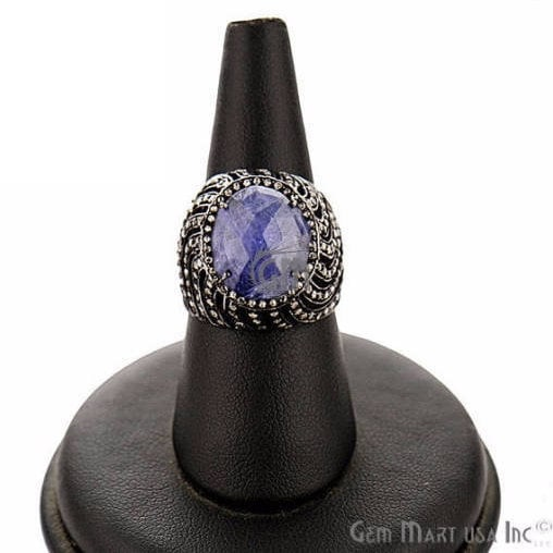 Victorian Estate Ring, 480 cts Sapphire with 080 cts of Diamond as Accent Stone (DR-12120)