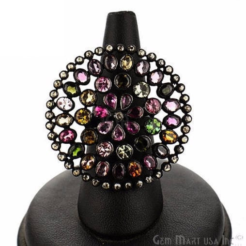 Victorian Estate Ring, 730 cts Multi Stone with 170 cts of Diamond as Accent Stone (DR-12134)