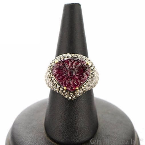 Victorian Estate Ring, 577 cts Ruby with 279 cts of Diamond as Accent Stone (DR-12144)